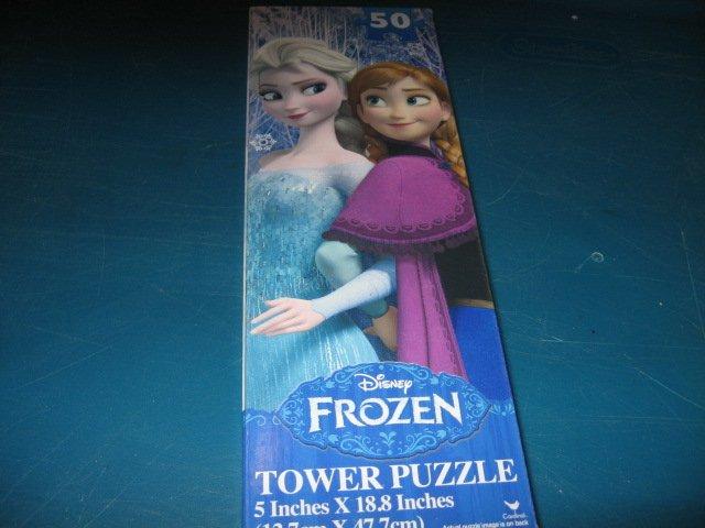 Frozen Anna Elsa Tower 50 piece puzzle 5 inch by 19 inch Disney