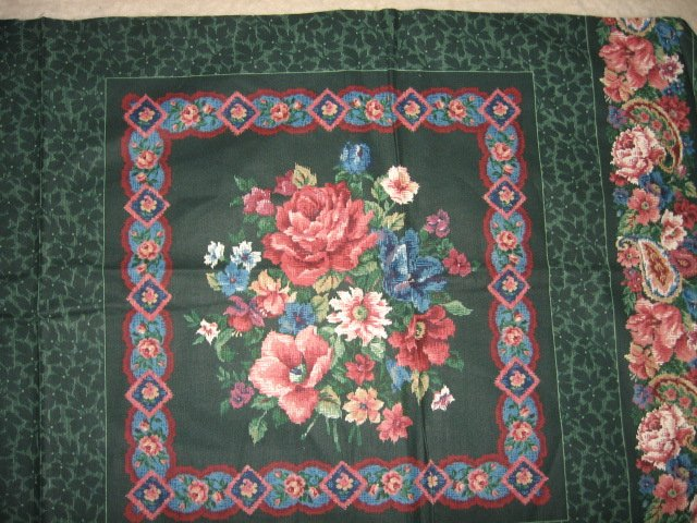 Rose Roses set of two Pillow Panels Fabric to sew