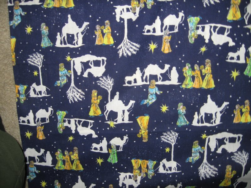 Christmas Nativity wise men camel stary night soft cotton fabric you sew