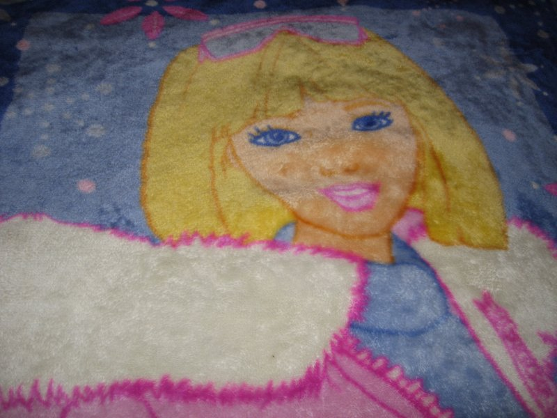 winter jacket Barbie name fleece blanket thick warm commercially made