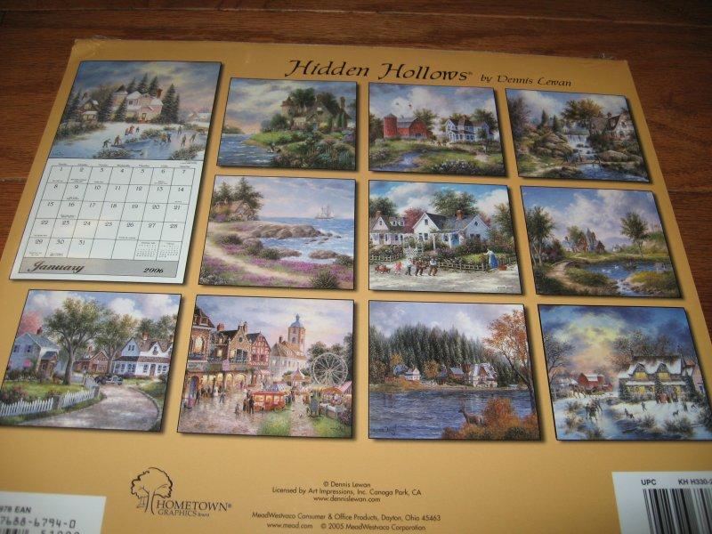 Hidden Hollows 12 month calendar year 2004 artist Dennis Lewan
