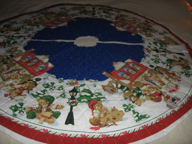 Teddy Bear Christmas Tree Skirt Large 57 inch Diameter You Sew