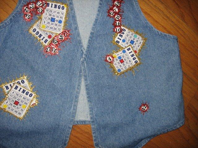 Bingo blue jean fabric vest