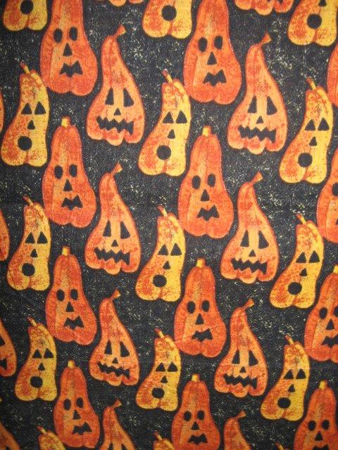 Halloween pumpkin spirits cotton fabric Rare