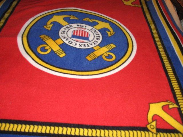 United States Coast Guard  Military Fleece Blanket
