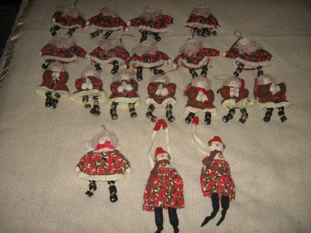 Christmas Tree Angel Dolls  Ornaments  Santa Angel doll set of 19