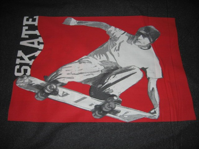 Skateboard sports clothing panel to sew