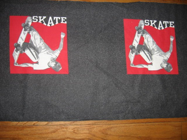 Skateboard sports clothing panel set of two to sew