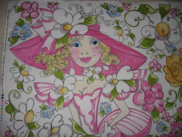 Belles two women hats appliques cotton fabric one piece rare