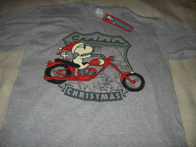 Snoopy motorcycle Cruisin t shirt large new w tags