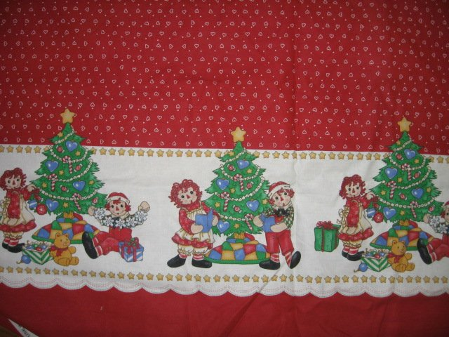 Raggedy Ann  Tablecloth Christmas restaurant cotton fabric