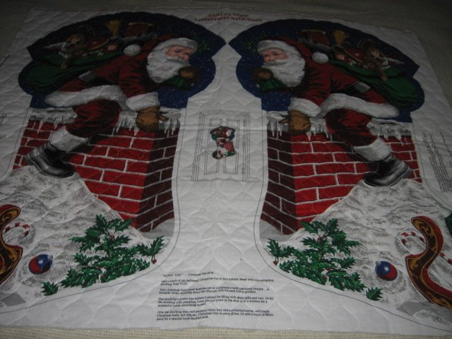 Santas visit Christmas Door Hanging to sew