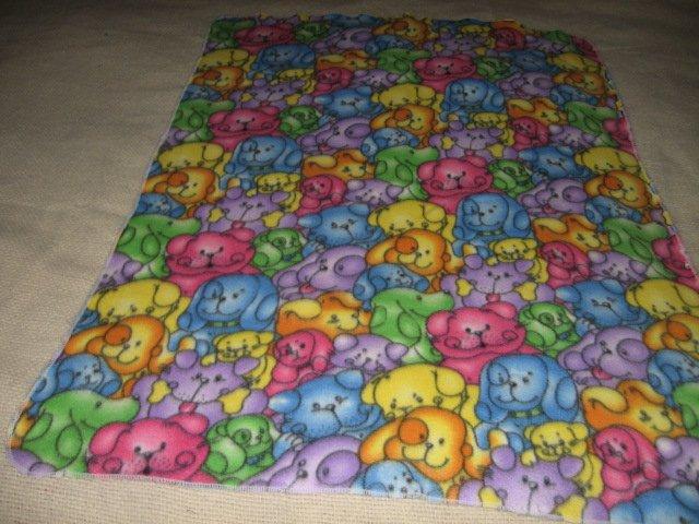 dog faces whimsical fleece toddler blanket many colors