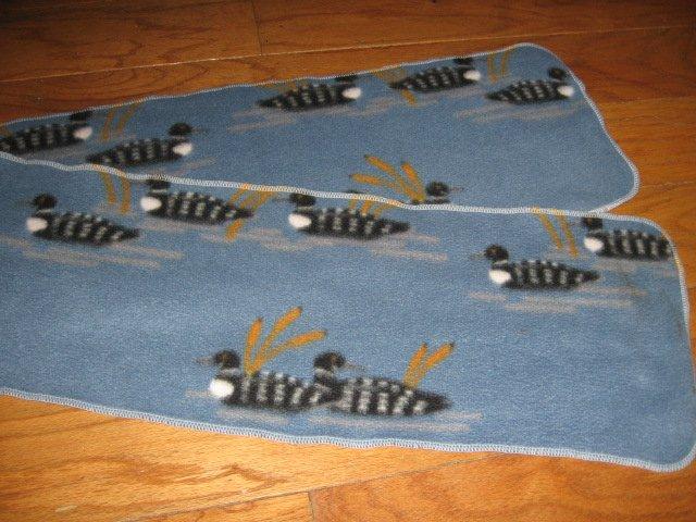 Loon fleece table runner or scarf