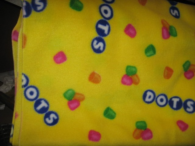 Dots Candy  gorgeous handmade RARE fleece blanket 60X45