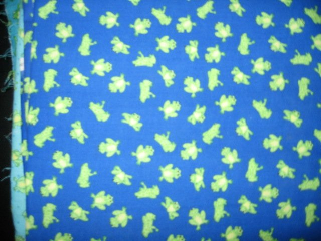 frog on dark blue backgroud cotton fabric by the yard 44 inch wide