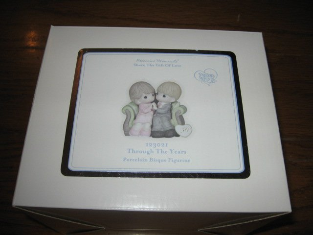 Precious Moments Porcelain Bisque Figurine Through the Years New in Box