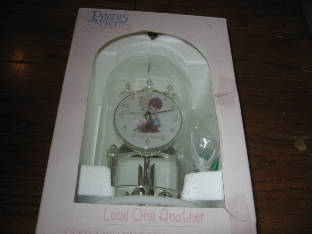 Precious Moments Anniversary Porcelain Clock new in box rare