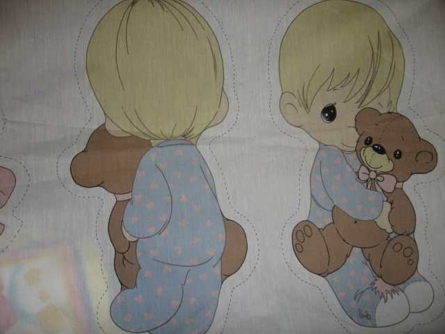 boy teddy girl bunny Fabric Precious Moments dolls To stuff cut and Sew