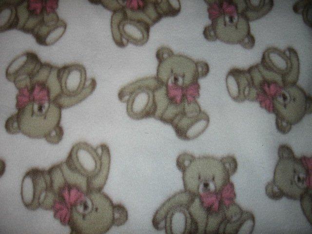 teddy bear soft white child  fleece blanket