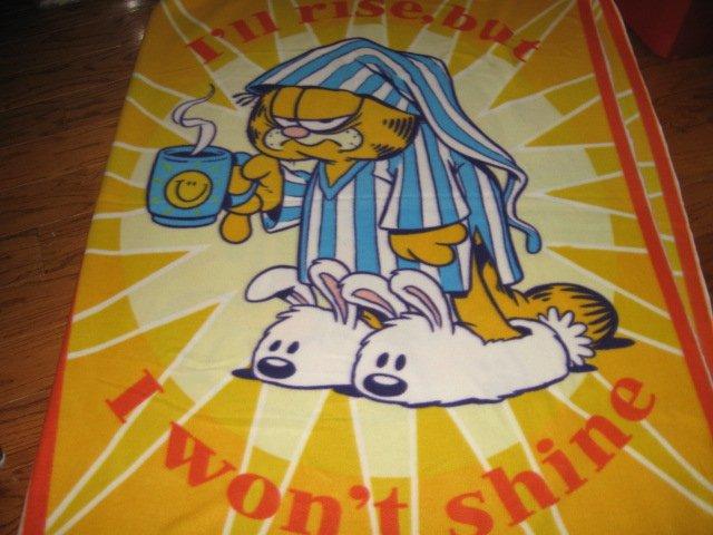 Garfield Rise and Shine Fleece blanket