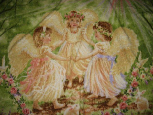 angel angels children dancing fleece blanket