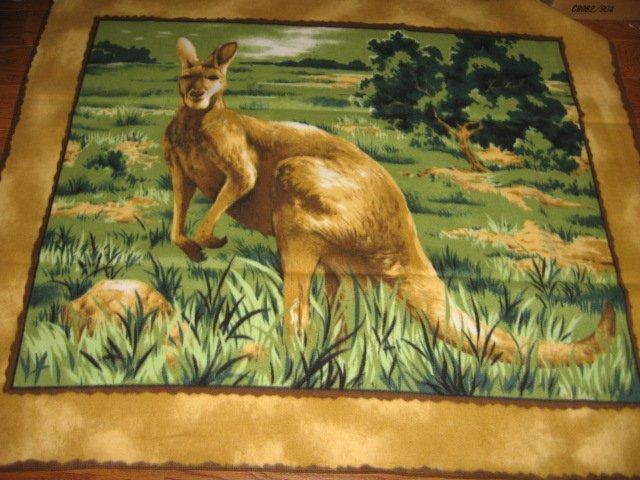 Kangaroo wild life Fleece blanket