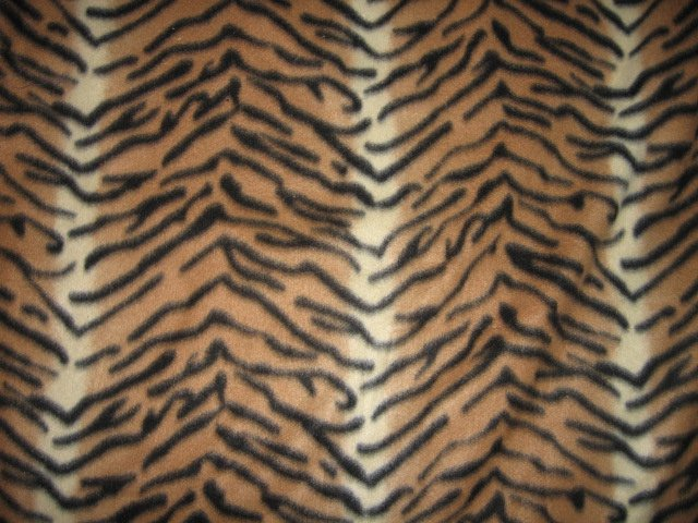 Tiger Stripe jungle fleece blanket