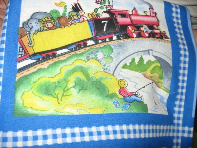 Little Engine That Could Fabric soft book to sew