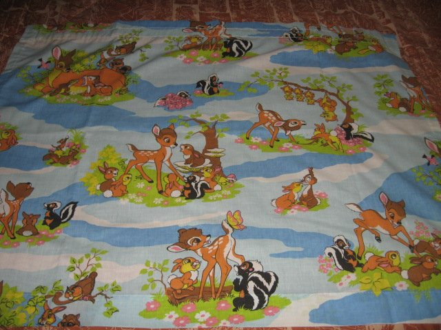 Disney Bambi curtains set of two 30 inch by 38 inches