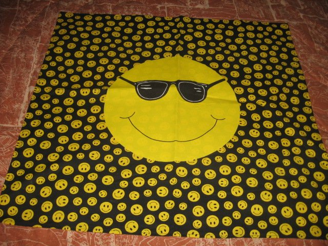 Smiley Faces with sunglasses cotton