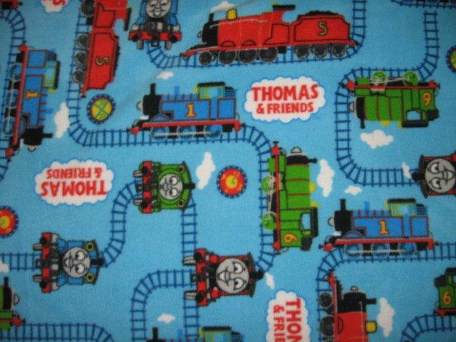 Thomas the tank Engine tracks friends fleece toddler blanket 30 X 31 inch