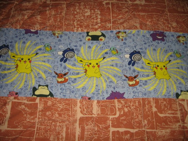 Pokemon Piachu vintage collectable outt of print fabric 9 inch by 44 inch