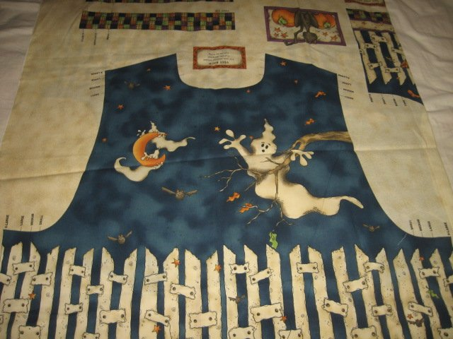 vest halloween ghost cotton fabric to sew