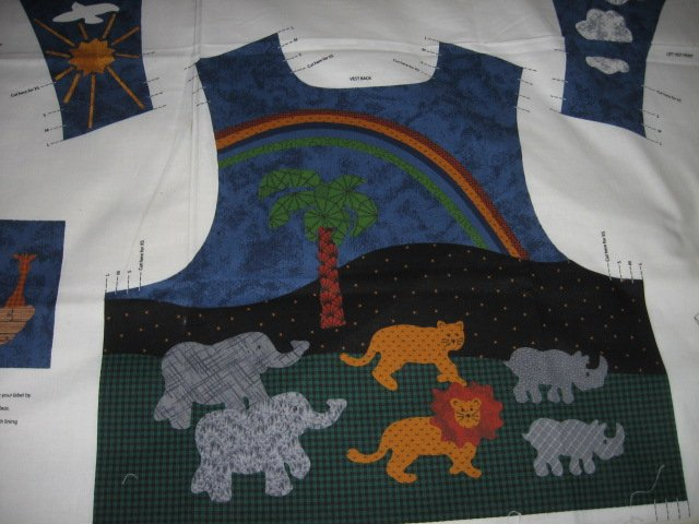 vest Noah's Ark cotton fabric to sew for kids