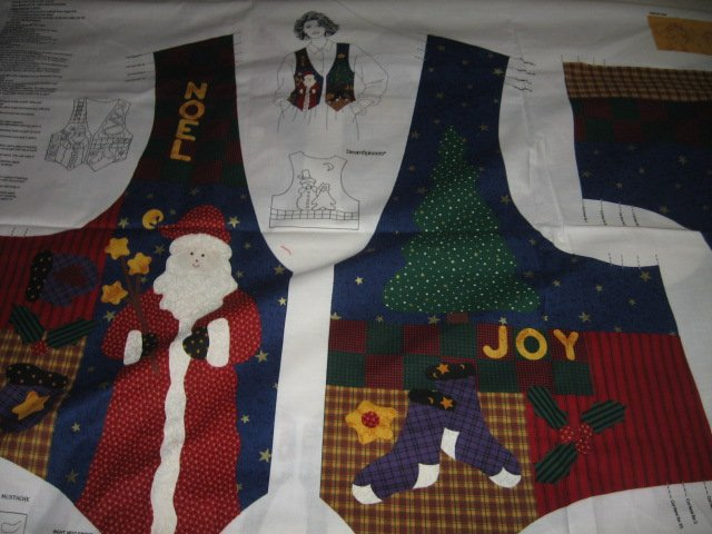 Christmas vest cotton fabric to sew