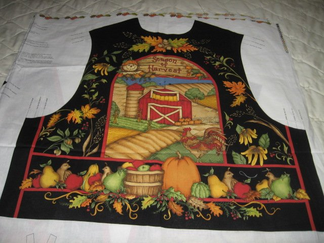 season of harvest vest fabric to sew for your favorite friends