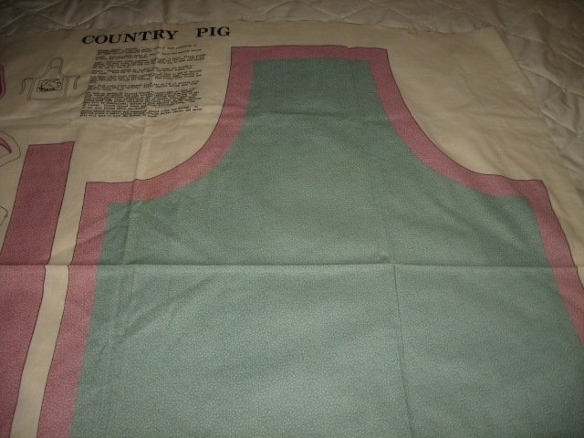 pig apron country    cotton fabric to sew