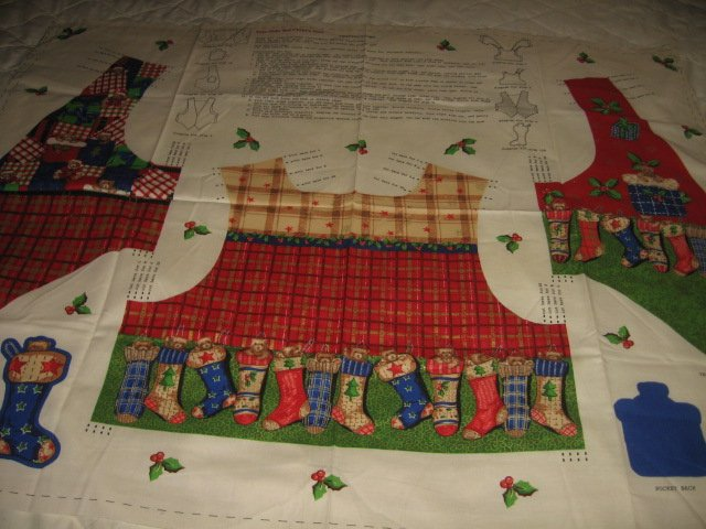 Yule Tide Ted Child Vest to sew