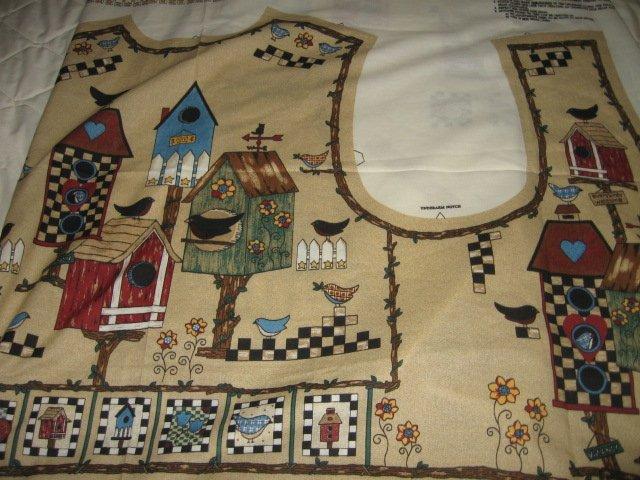 Birdhouse Bungalow Vest to sew