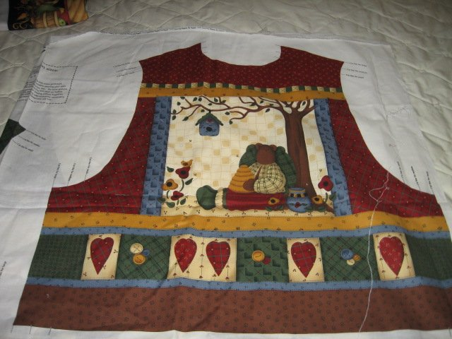 Country Bears At Heart Vest to sew