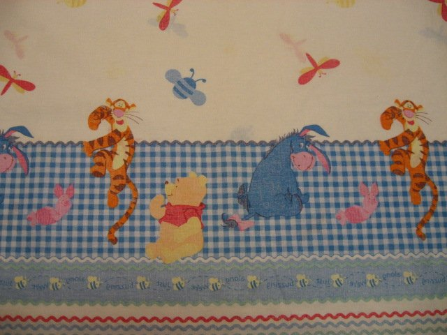 Disney Winnie the Pooh Tigger Piglet Eeyore Border Print fabric by the yard
