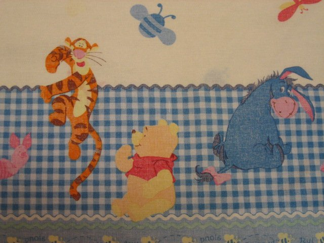 Image 1 of Disney Winnie the Pooh Tigger Piglet Eeyore Border Print fabric by the yard