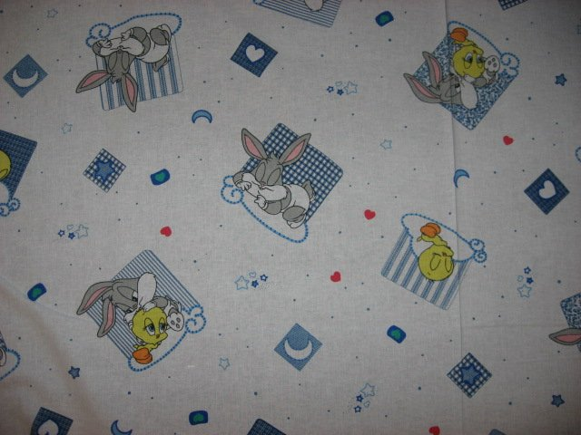 Looney Tunes Baby Bugs Tweety 100% cotton fabric by the 1/2 yard rare