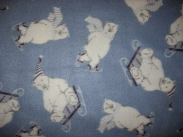 Image 0 of Polar Bear Child bed size fleece blanket throw
