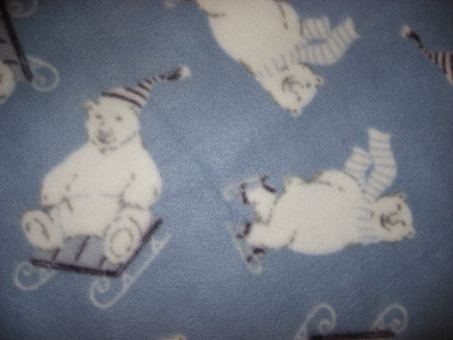 Image 1 of Polar Bear Child bed size fleece blanket throw