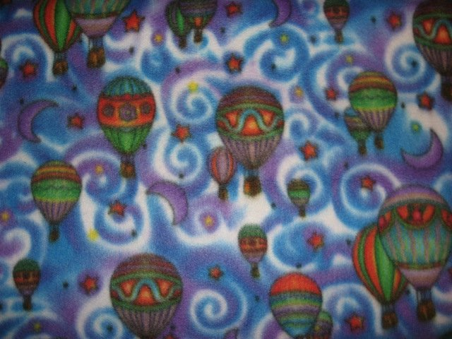Image 0 of Hot air balloons moons swirls and stars super soft fleece blanket or Throw