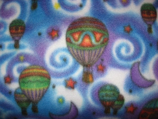 Image 1 of Hot air balloons moons swirls and stars super soft fleece blanket or Throw