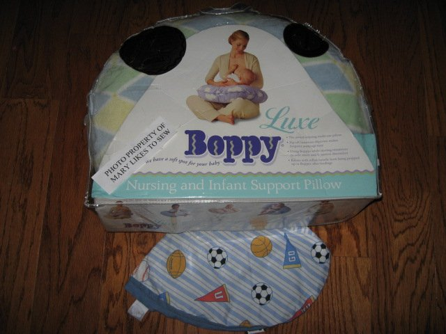 Image 0 of Original Boppy nursing pillow extra cover with sport pattern New in Package