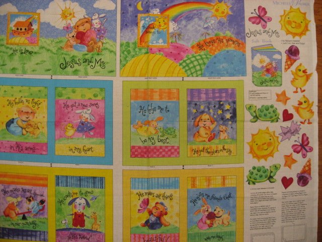 Daisy Kingdom Jesus and Me Animals Fabric baby soft book to sew very rare!
